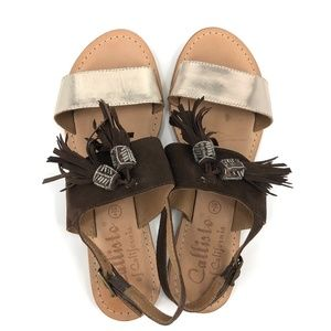 Callisto of California boho tassels sandals 9/40
